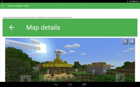screenshot of 1600 Maps for Minecraft PE version 1.0.12