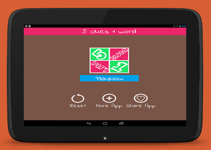 screenshot of Guess the Word - 5 Clues 1 Word - Offline version 1.8