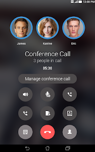screenshot of ASUS Calling Screen version 1.5.0.141223_1
