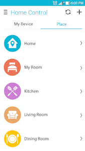 screenshot of ASUS SmartHome version 1.3.104