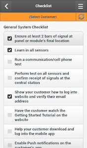 screenshot of Partner MobileTech version 1.3.0