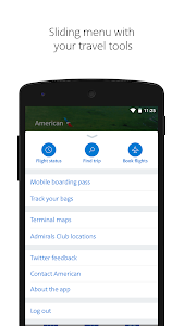 screenshot of American Airlines version 5.6.2.2