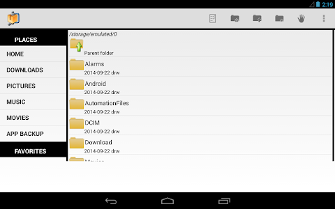 screenshot of AndroZip™ FREE File Manager version Varies with device
