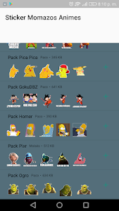 screenshot of Animes WAStickerApps Memes Momazos Pack version 5.0