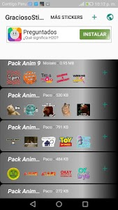 screenshot of GraciosoStickers WAStickerApps Memes Momazos Pack version 8.0