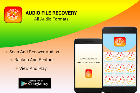screenshot of Audio Files Recovery- All audio Formats version 3.0