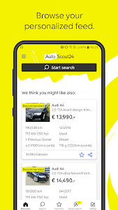 screenshot of AutoScout24 - used car finder version 9.5.95
