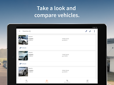 screenshot of AutoScout24 - used car finder version 9.4.95