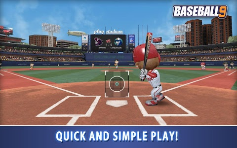 screenshot of BASEBALL 9 version 1.3.2