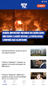 screenshot of BFMTV - Actualités en direct et replay version 4.1.2