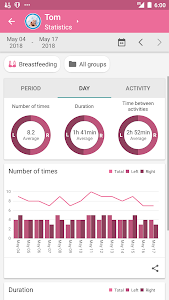 screenshot of Baby Daybook: Baby Tracker Day by Day. Newborn log version 4.1.7