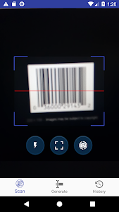 screenshot of Barcode | QR Scanner and Generator version 1.0