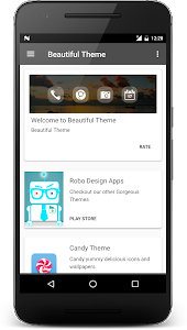 screenshot of Beautiful Theme version 4.7