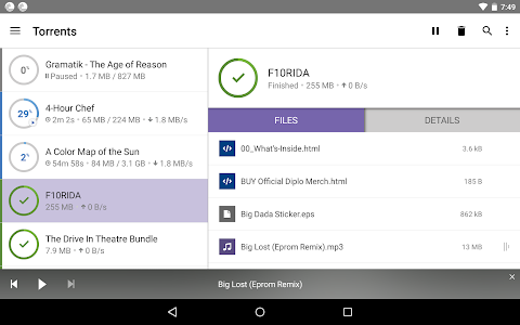 screenshot of BitTorrent®- Torrent Downloads version 3.19