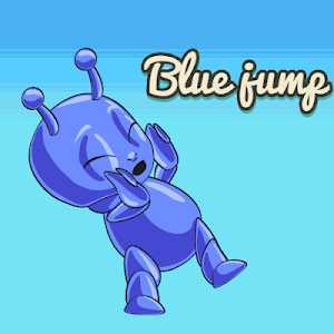 screenshot of Blue jump version 1.0