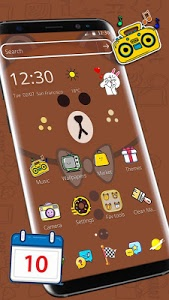 screenshot of Brown Bear Cartoon Theme version 1.1.10