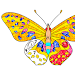 Butterfly Glitter Color by Number: Animal Coloring