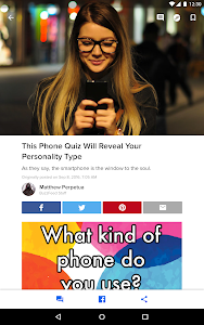 screenshot of BuzzFeed: News, Tasty, Quizzes version 5.42