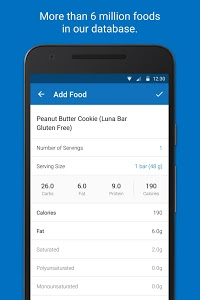 screenshot of Calorie Counter - MyFitnessPal version Varies with device