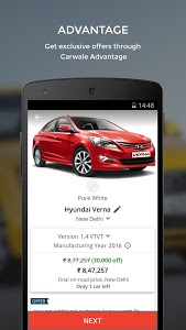 screenshot of CarWale- Search New, Used Cars version 4.4.2