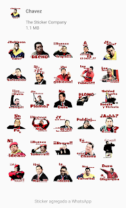 screenshot of Chavez and Venezuela stickers for WhatsApp version 3.1