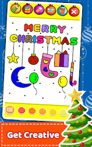screenshot of Christmas Coloring Book & Games for kids & family version 2.23