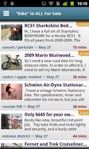screenshot of CityShop - for Craigslist version 1.71
