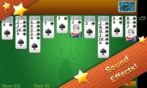screenshot of Classic Spider Solitaire version 1.5.5