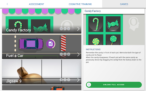 screenshot of CogniFit Brain Fitness version 2.0.607