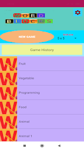 screenshot of Color Word Puzzle version 1.1