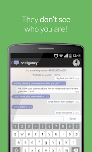 screenshot of Connected2.me Chat Anonymously version 1.5.4