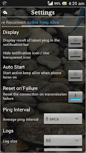 screenshot of Connection Stabilizer Booster version 2.4.3