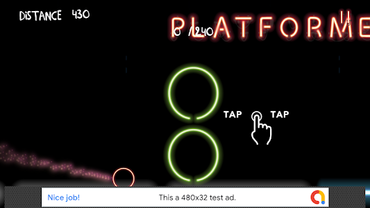 screenshot of Crazy Rolling Neon Ball version 2.0