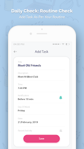 screenshot of Daily Task, to DO List, Routine Work version 1