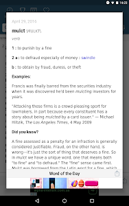 screenshot of Dictionary - Merriam-Webster version 4.3.2
