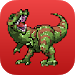Dinosaur Color By Number: Pixel Art Dinosaur