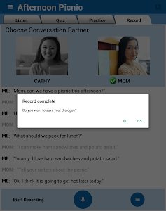 screenshot of English Conversation Practice version 1.3.4