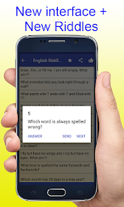 screenshot of English Riddles With Answers Free Easy Puzzle New version 1.0.6