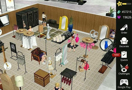screenshot of Fashion Empire - Boutique Sim version 2.88.2