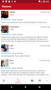 screenshot of Find Me Gluten Free version 2.2.8.162