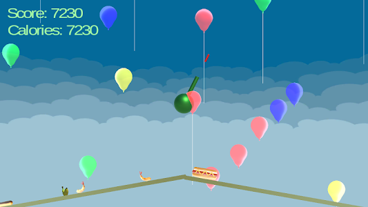 screenshot of Food Balloon Pop version 1.3.0