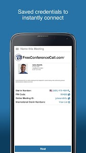 screenshot of Free Conference Call version 1.6.16.0