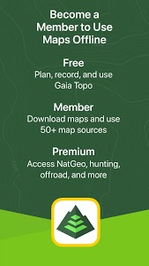 screenshot of Gaia GPS: Hiking, Hunting Maps version 7.1.5