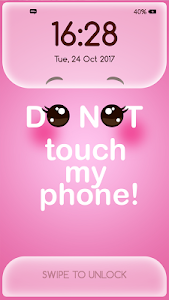 screenshot of Girly Lock Screen Wallpaper with Quotes version 3.2