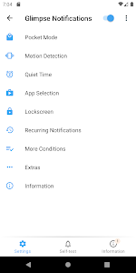 screenshot of Glimpse Notifications version 4.2.7.X