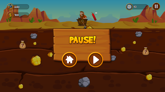 screenshot of Gold Miner Classic version 1.0