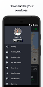 screenshot of Grab Driver version 5.118.0