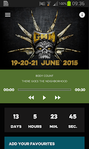 screenshot of Graspop Metal Meeting version 5.0