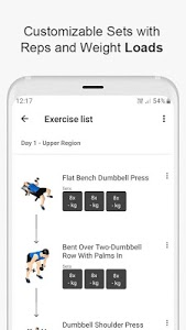 screenshot of Gym WP - Dumbbell, Barbell and Supersets Workouts version 6.3