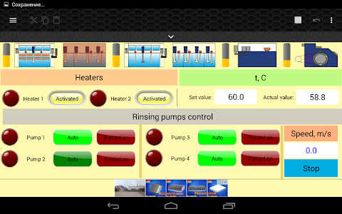 screenshot of HMI Modbus TCP, Bluetooth Free version 1.67